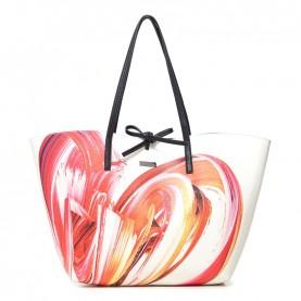 Desigual 21SAXPCJ reversible white shopper bag 3 in 1