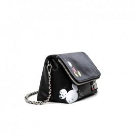 Desigual 21SAXP46 black crossbody bag Mickey Mouse