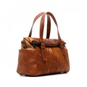 Desigual 21SAXP86 camel duffle bag