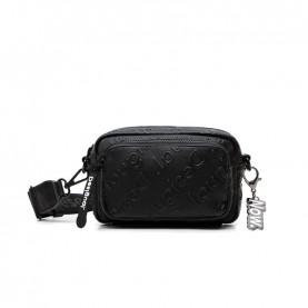 Desigual 21SAXP70 black logo crossbody bag