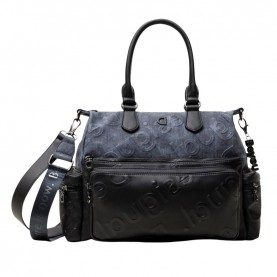 Desigual 21SAXPCC black and blue logo bag