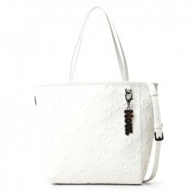 Desigual 21SAXPAG white logo shopper bag