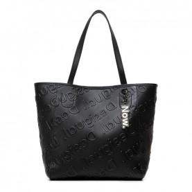 Desigual 21SAXPAG black logo shopper bag