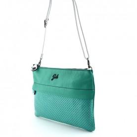 Gabs Beyoce M malachite diamante + ruga black leather bag