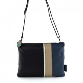 Gabs Beyoce M black combination soft black leather bag
