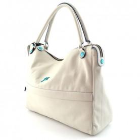 Gabs Emilia M talc soft basic leather bag