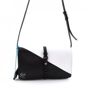 Gabs Corso Como Nicole M black and white leather bag