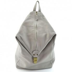 Lilimill Rokka steel grey leather backpack