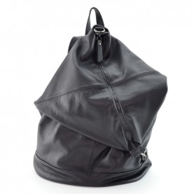 Lilimill Monik black leather backpack