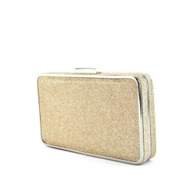 Menbur 84774 platinum clutch with strass