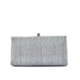 Menbur 84759 striped silver clutch