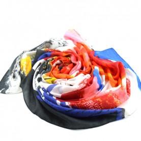 Desigual 19WAWA42 1001 printed foulard
