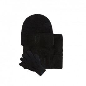 Trussardi Jeans 57Y00002 kit black scarf beanie and gloves