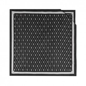 Alviero Martini 4070/TWIL silk scarf 70x70 logo black