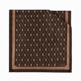 Alviero Martini 4048/TWIL silk scarf 45x180 logo brown