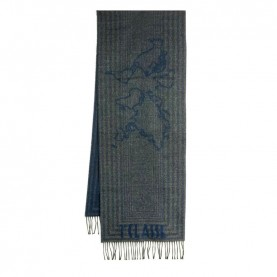 Alviero Martini S099/AM47 navy blue lines scarf