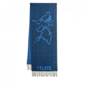 Alviero Martini S099/AM47 avio blue lines scarf