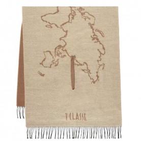 Alviero Martini S002/PUNT geo natural beige big scarf