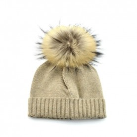Bruno Carlo beaver hat with real fur pompom