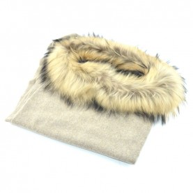 Bruno Carlo beaver poncho with real fur