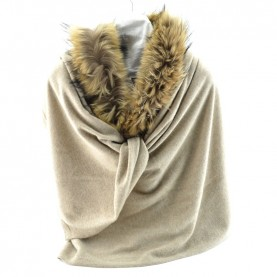 Bruno Carlo beaver stole with real fur