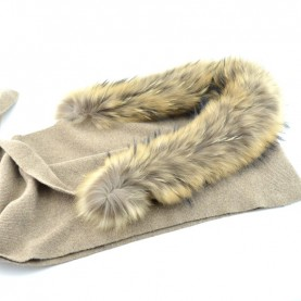 Bruno Carlo beaver scarf with real fur