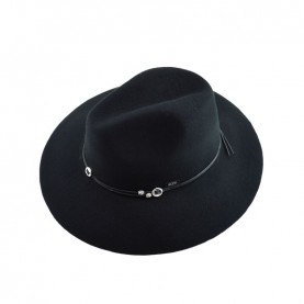 Cult 4653 black wide-brimmed hat