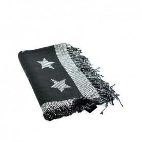 Cult 4643 black maxi scarf with star