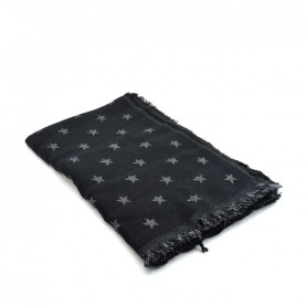 Cult 4642 black scarf with star