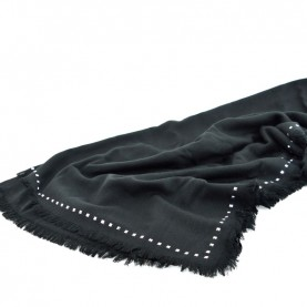 Cult 4644 black scarf with studs