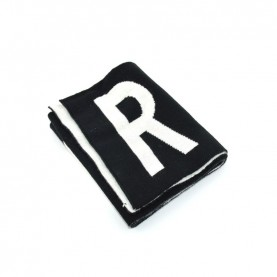 John Richmond 7905S black and white logo scarf