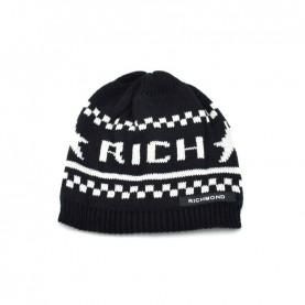 John Richmond 4968 black and white beanie