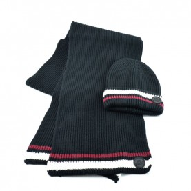 John Richmond 4969 black kit with scarf and beanie