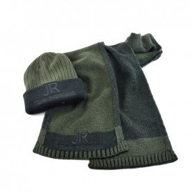 John Richmond 7914 military green kit with scarf and beanie