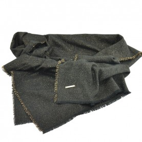 Trussardi Jeans 59Z00249 woman black and gold scarf
