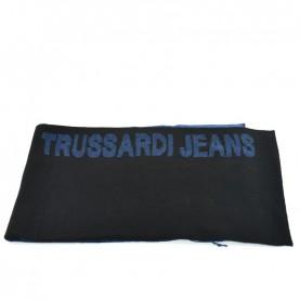 Trussardi Jeans 57Z00159 black and blue logo scarf