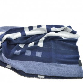 Trussardi Jeans 57Z00093 blue and grey scarf