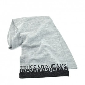 Trussardi Jeans 59Z00160 woman grey and black glitter scarf