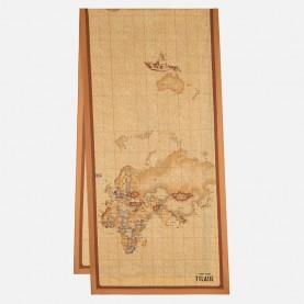 Alviero Martini 3148/ALOE silk scarf 45x180 geo peach pink