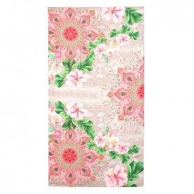 Desigual 21SAWA12 coral rectangular foulard