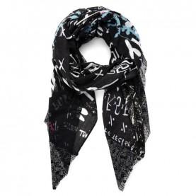 Desigual 21SAWA32 black rectangular foulard