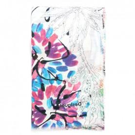 Desigual 21SAWA41 floreal rectangular foulard with lurex