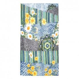 Desigual 21SAWA46 green flower rectangular foulard