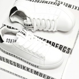 Bikkembergs 20511 white and black sneakers