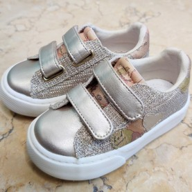 Alviero Martini 10865 platinum glitter sneakers