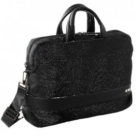 Nava EP007N Easy plus black Double-Handle Briefcase With Laptop And Ipad Pockets
