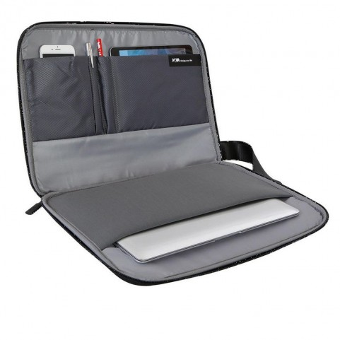 Nava EP137N Easy plus black Laptop sleeve with strap to carry also as a backpack