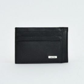 Calvin Klein Rail K50K501461 black leather cardholder
