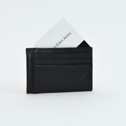 Calvin Klein Rail K50K501461 black leather cardholder