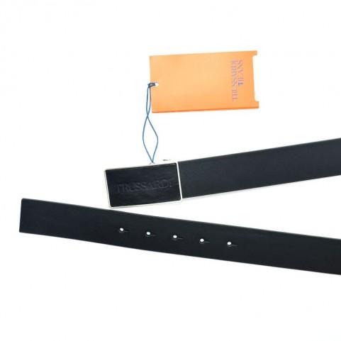 Trussardi jeans 71L00127 black leather belt